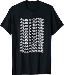 camiseta grunge para mujer its all in your head